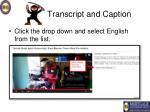 transcript and caption5