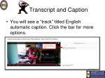 transcript and caption6