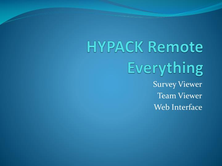 hypack remote everything n.