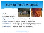 bullying who s affected