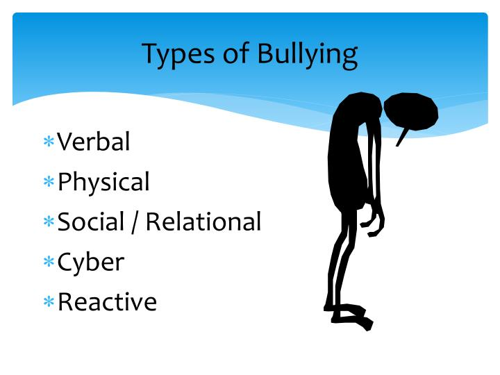 three categories of bullying physical verbal and relational