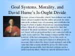 goal systems morality and david hume s is ought divide