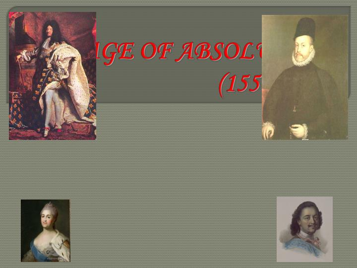 the age of absolutism 1550 1800 n.
