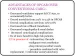 advantages of opcab over conventional cabg