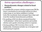 intra operative challenges
