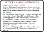 problems assoc with opcab