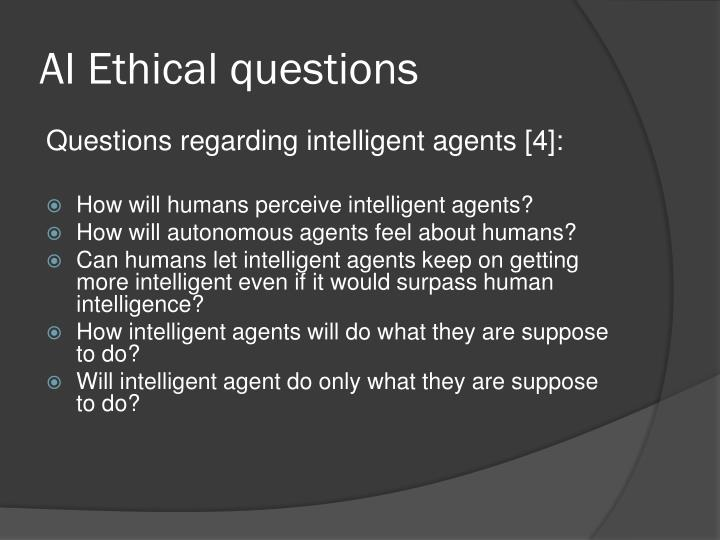 AI Ethical questions