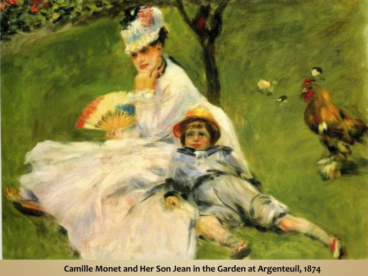 Camille Monet and Her Son Jean in the Garden at Argenteuil, 1874