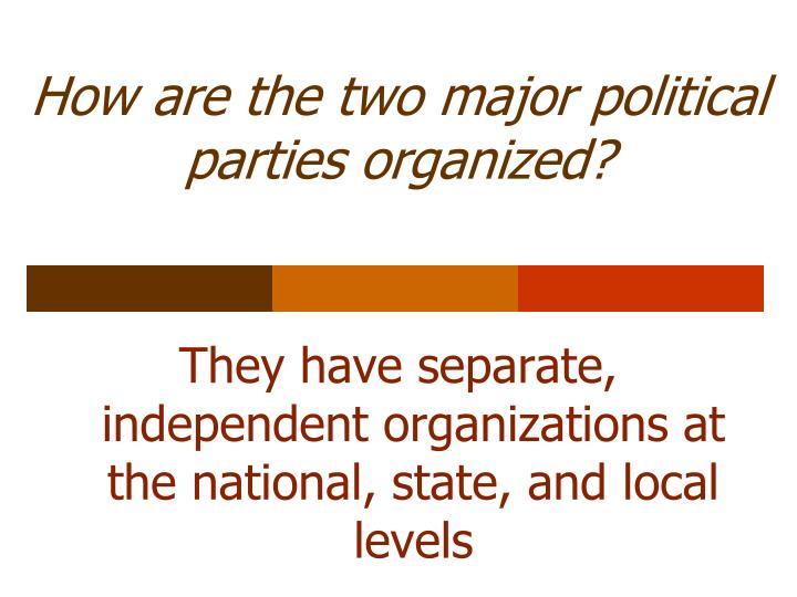 How are the two major political parties organized?
