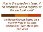 how is the president chosen if no candidate wins a majority of the electoral vote