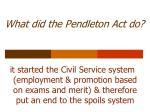 what did the pendleton act do