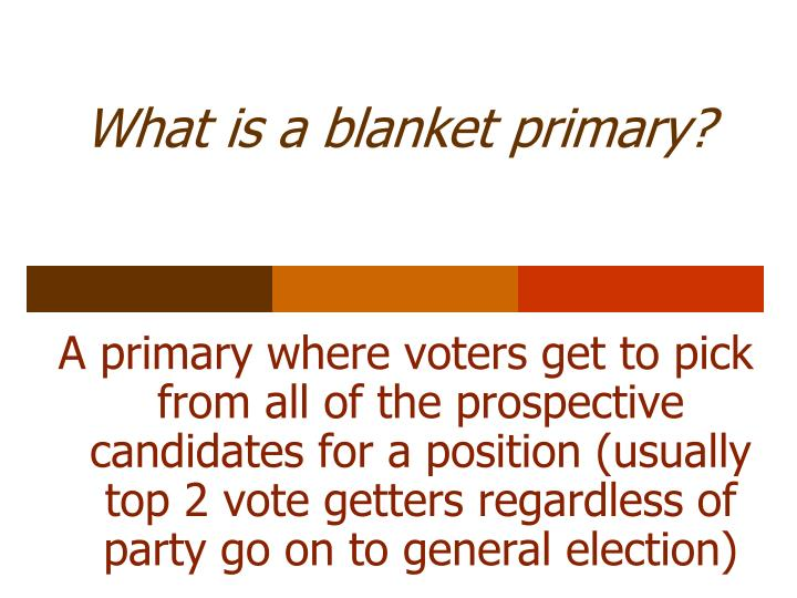 What is a blanket primary?