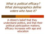 what is political efficacy what demographics define voters who have it
