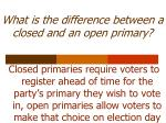 what is the difference between a closed and an open primary