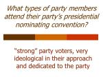 what types of party members attend their party s presidential nominating convention