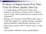 evidence of improvement over time costs go down quality goes up
