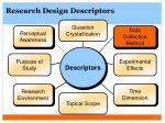 research design descriptors1
