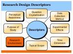research design descriptors3