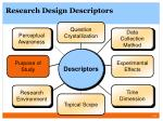 research design descriptors4