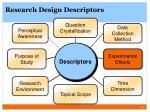 research design descriptors5