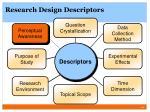 research design descriptors6