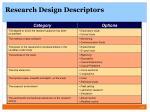 research design descriptors7