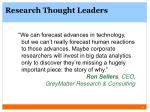 research thought leaders