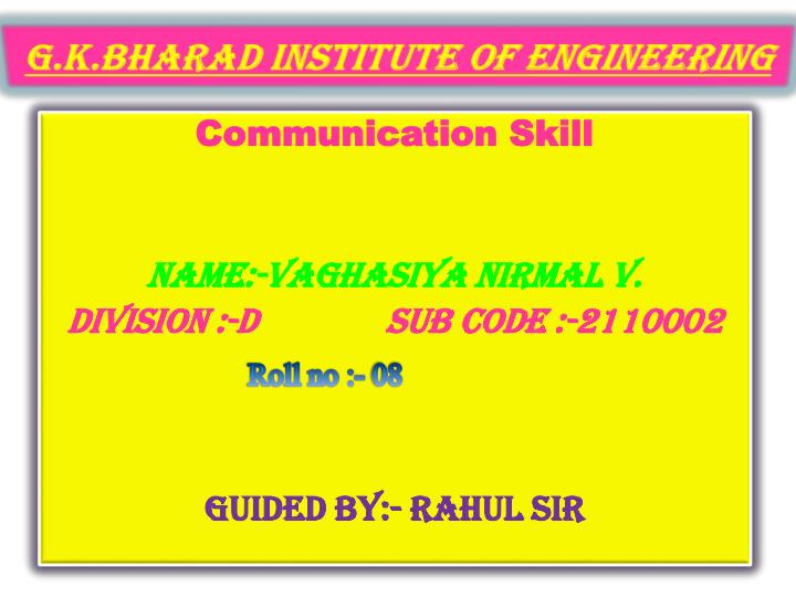 g k bharad institute of engineering n.
