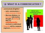 what is a communication