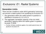 exclusions e1 radial systems1