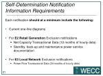 self determination notification information requirements