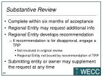 substantive review