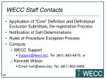 wecc staff contacts