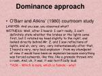 dominance approach2