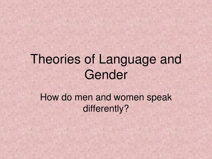 how do men and women speak differently n.