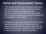 horror and psychoanalytic theory