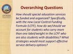 overarching questions3