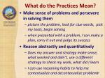 what do the practices mean