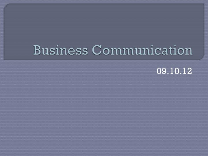 business communication n.