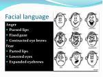 facial language