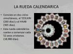 la rueda calendarica