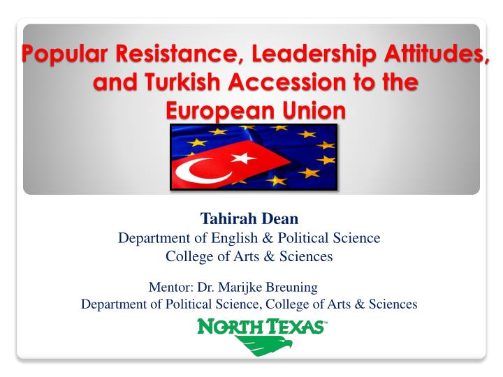 popular resistance leadership attitudes and turkish accession to the european union union n.