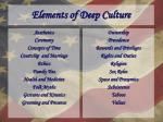 elements of deep culture