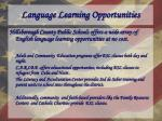 language learning opportunities