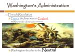 washington s administration