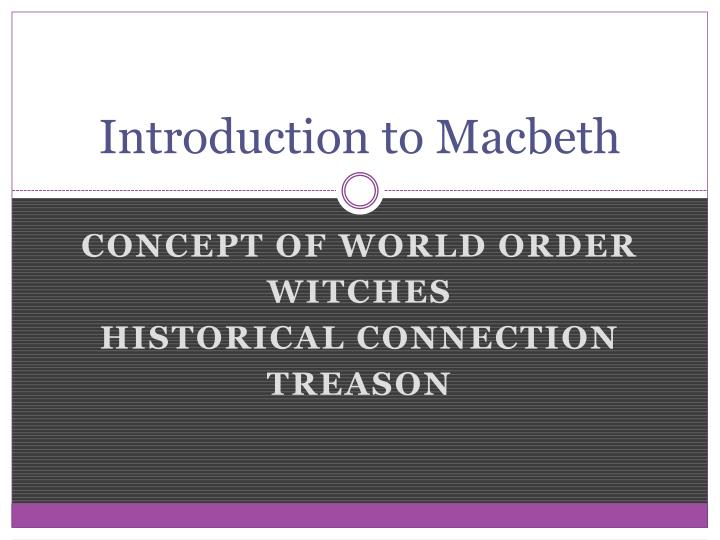 introduction to macbeth n.