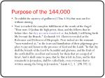 purpose of the 144 000