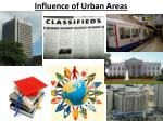 influence of urban areas