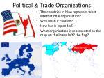 political trade organizations