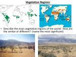 vegetation regions